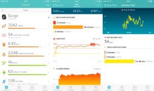 I cardio dati immagazzinati da Fitbit